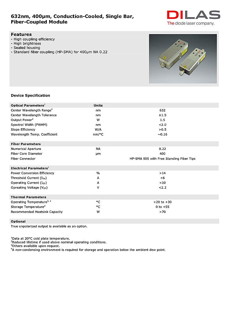 632nm | High Power Laser Diode