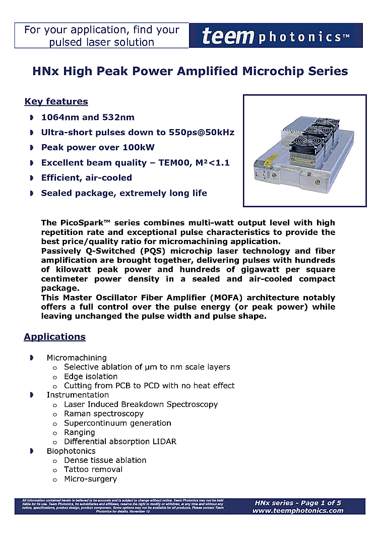 532nm Q-Switched Picosecond Laser, 60µJ