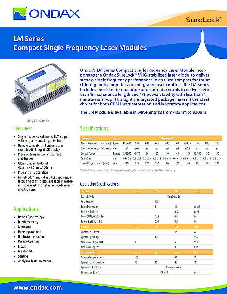 Single Frequency Laser, 150mW